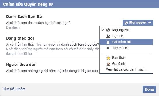cai dat an ban be facebook