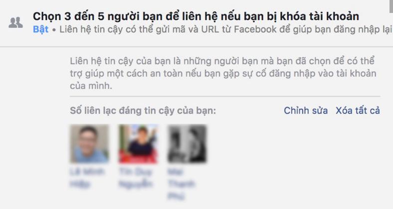 cai dat chon ban be tin cay facebook