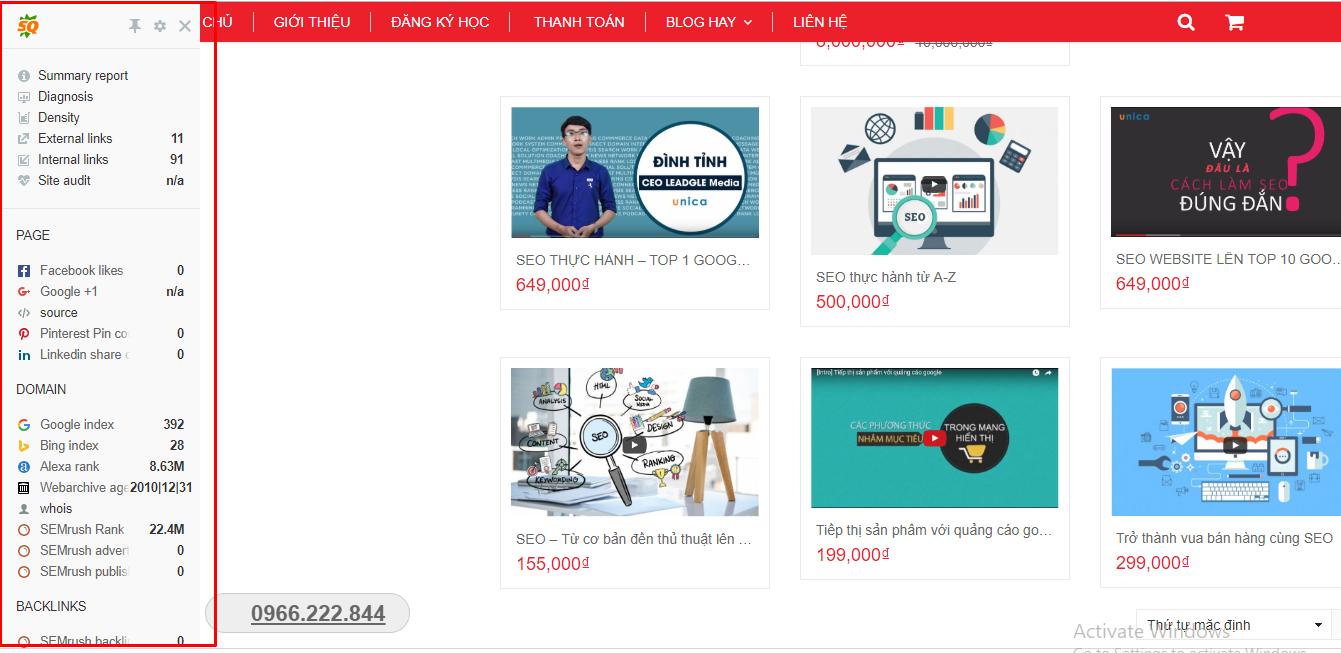 Công cụ SEO website miễn phí và hiệu quả dành cho người mới bắt đầu