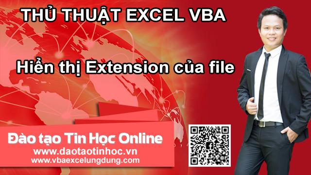 Hiển thị Extension của file