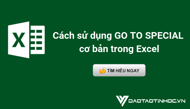 cách sử dụng go to special trong excel