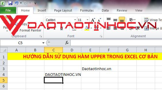 Hướng dẫn sử dụng hàm UPPER trong Excel