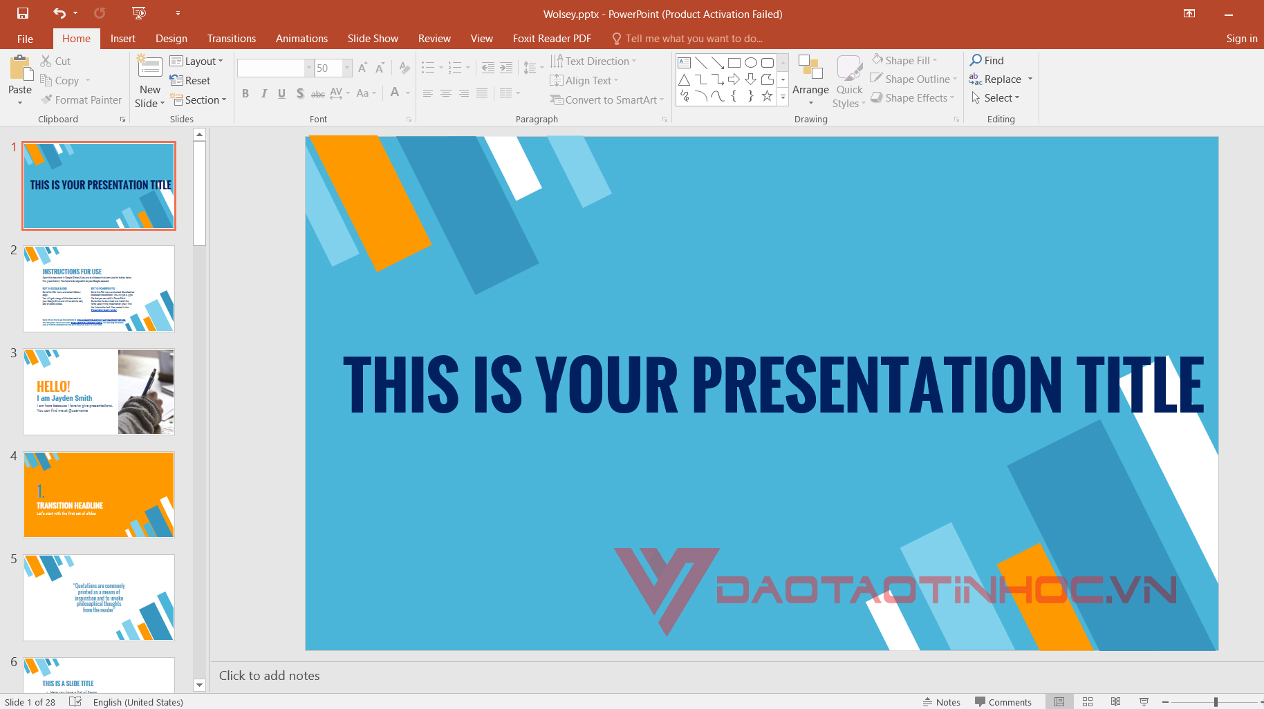 theme powerpoint 2018