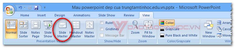 Sử dụng Slide Master Powerpoint đơn giản