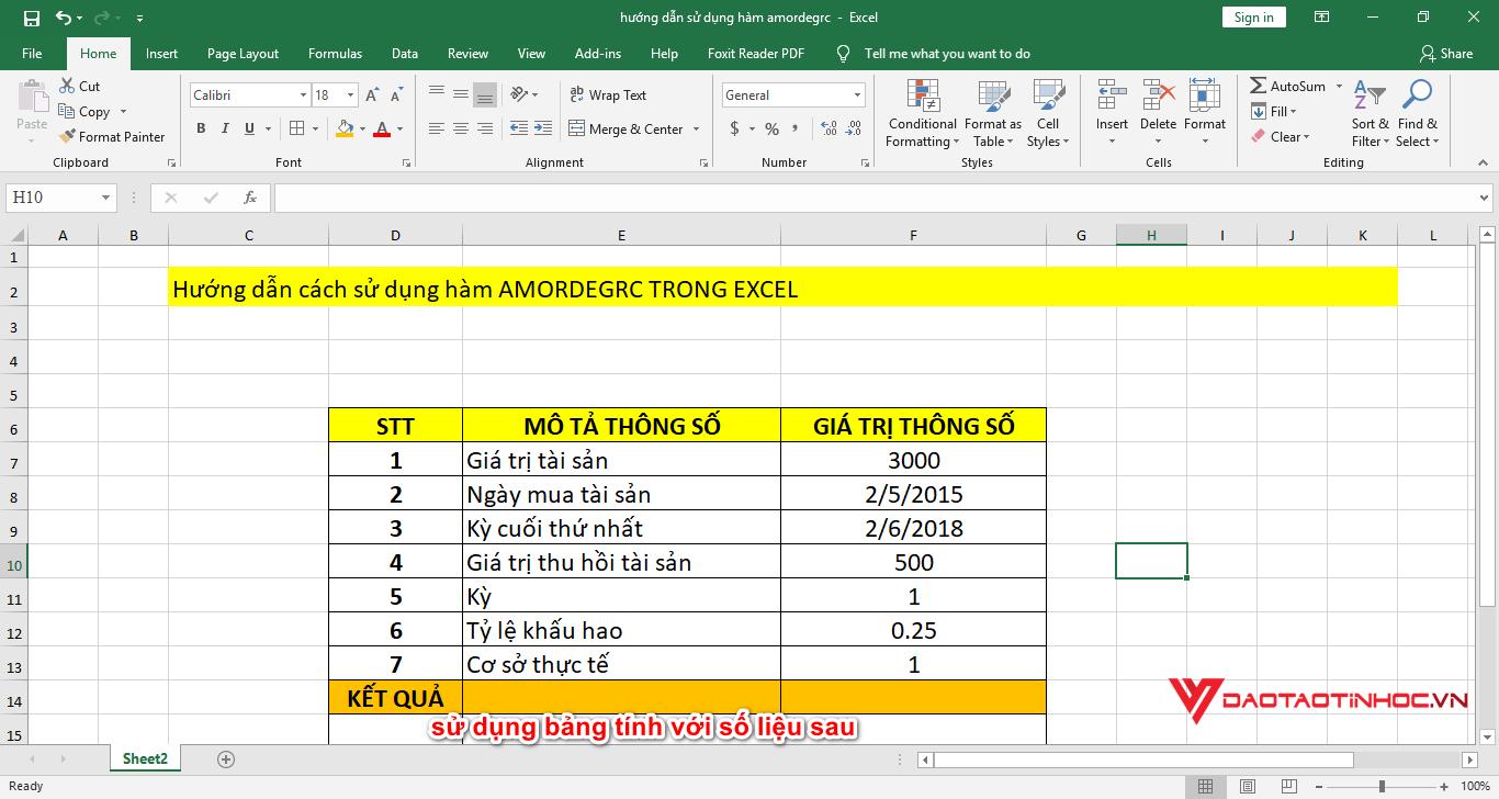 hướng dẫn sử dụng hàm amordegrc trong excel
